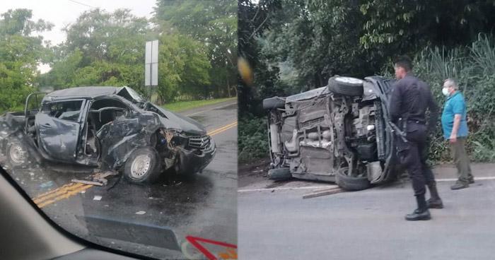 Seis accidentes dejan varios lesionados este sábado en distintos puntos del país