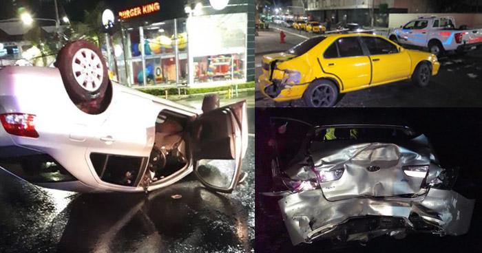 Tres accidentes de tránsito en diferentes puntos del país dejó a tres personas lesionadas