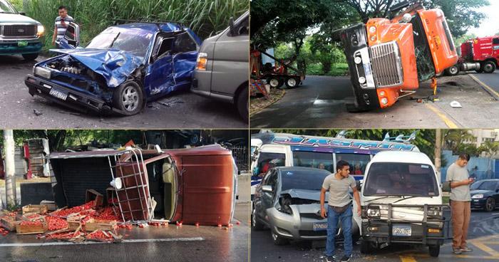 Al menos 7 accidentes de tránsito se registraron esta mañana en diferentes puntos del país