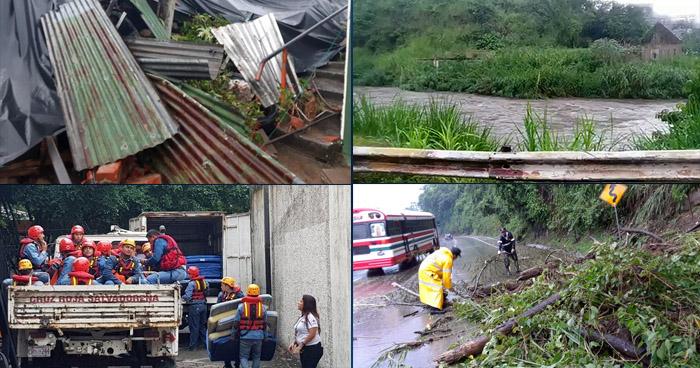 Ríos amenazaron con desbordarse, calles inundadas y familias evacuadas por lluvias