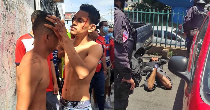 Varios heridos tras enfrentamientos entre aficionados del Fas y Alianza en alrededores del Estadio Cuscatlán