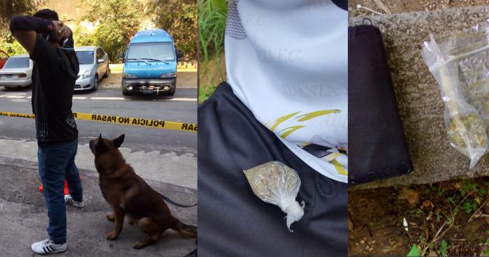 Agente canino detecta a aficionados del Alianza con marihuana