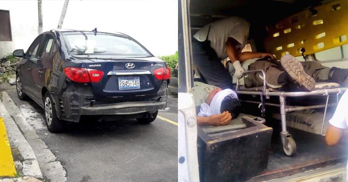 Mujer huye tras atropellar a dos agentes del CAM de Santa Tecla