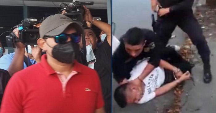 Policía que fue captado en video agrediendo a sujeto detenido será procesado en libertad
