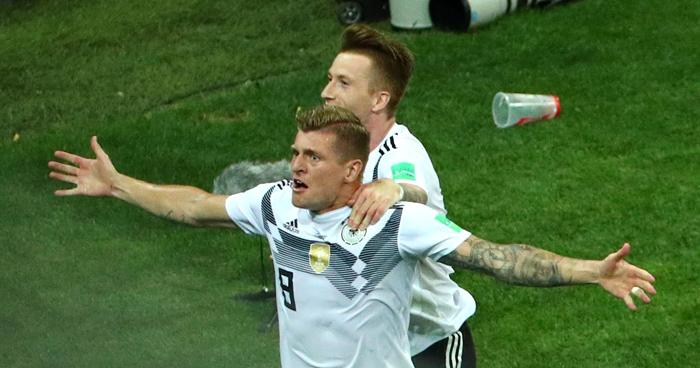 Kroos le da vida a Alemania, en el ultimo minuto le ganan a Suecia