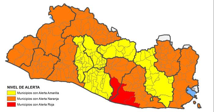 Elevan nivel de alerta por lluvias en algunos municipios y departamentos