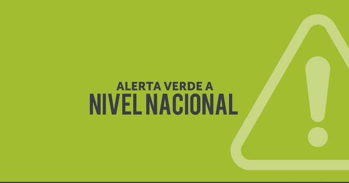 Protección Civil emite Alerta Verde a nivel nacional por depresión tropical