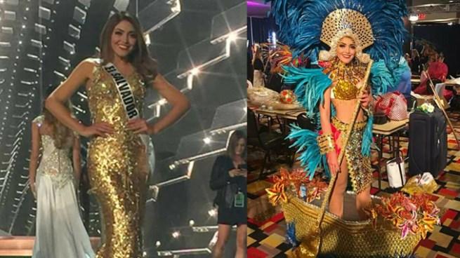 """Así fue la dificultosa presentación de El Salvador con su traje típico de """"Diosa del río Lempa"""""""