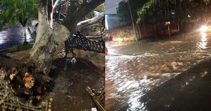Familias de Ilopango afectadas por inundación tras fuerte lluvia de anoche