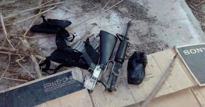 Delincuentes abandonan M16 al notar presencia policial en San Martín