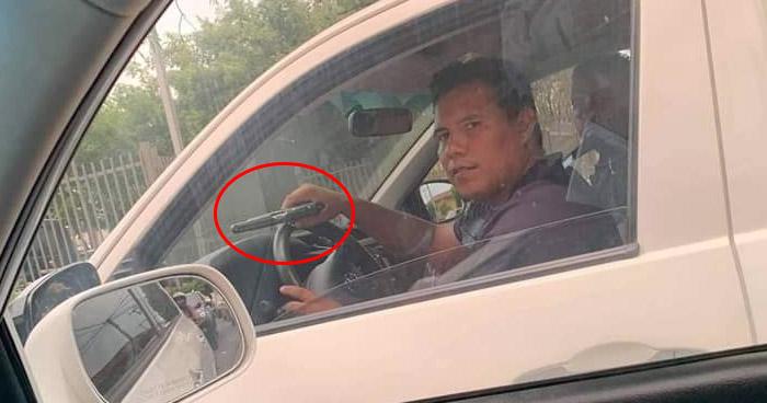 Denuncian a conductor que amenazó a otro automovilista con arma de fuego