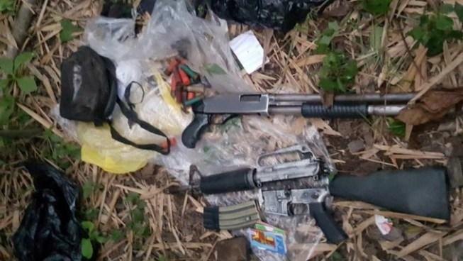 Descubren campamento de pandilleros con armas de grueso calibre enterradas