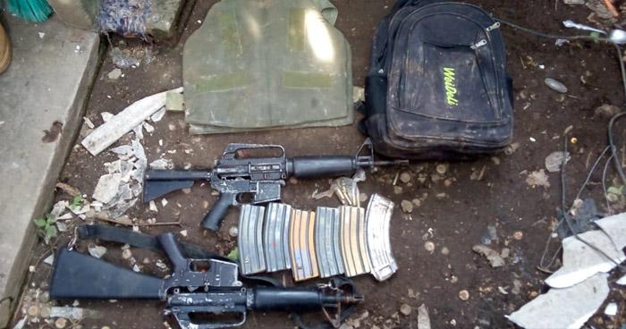 Encuentran armas y un chaleco antibalas en vivienda de La Libertad