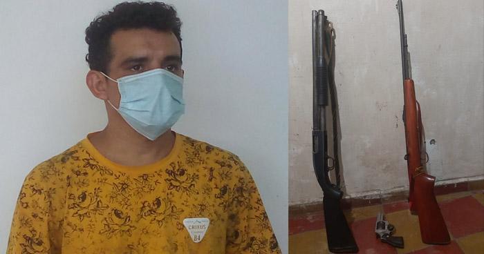 Capturado con armas largas en Guatajiagua, Morazán