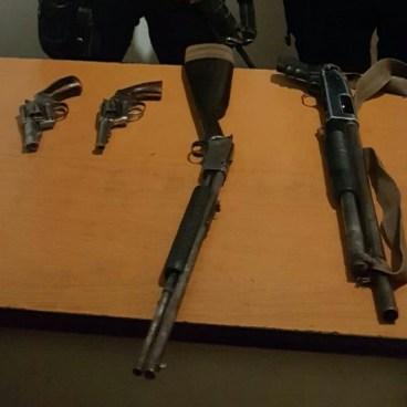 Capturan a 4 miembros de estructuras criminales con armas ilegales en Jiquilisco