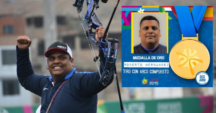Arquero salvadoreño, Roberto Hernandez gana ORO en los Panamericanos de Lima