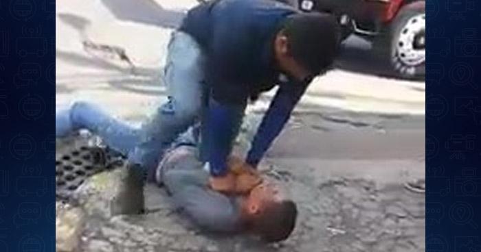 VIDEO | Ciudadanos detienen a delincuente luego que robara un celular en San Miguel