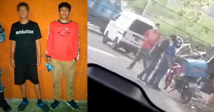Capturan a delincuentes que asaltaron a repartidor de comida rápida
