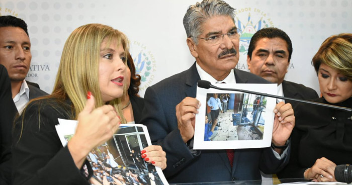 Diputados de ARENA piden al fiscal investigar a Rector y Vicerrector de la UES tras los disturbios de esta mañana