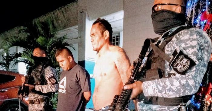 Pandilleros capturados por asesinar a vigilante de un restaurante de Apulo, en Ilopango