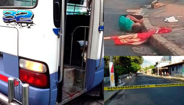 Sicarios asesinan a dos personas esta mañana: uno en Mejicanos y otro dentro de un microbús R-32