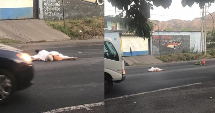 Un anciano murió tras ser atropellado en la carretera Troncal del Norte en Apopa