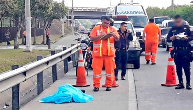 Anciano muere tras ser atropellado por un motociclista sobre la carretera de Oro, Ilopango
