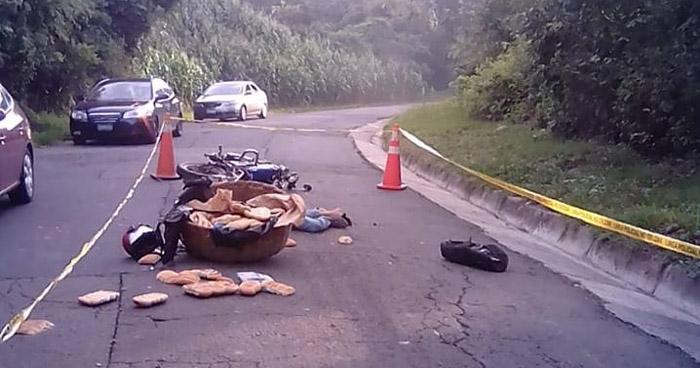 Vendedor de pan muere al ser atropellado en carretera de Verapaz, San Vicente