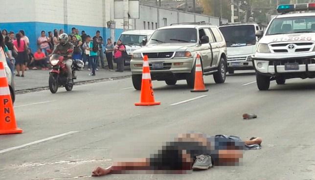 Persona fallecida tras ser atropellada sobre la carretera Troncal del Norte en Apopa