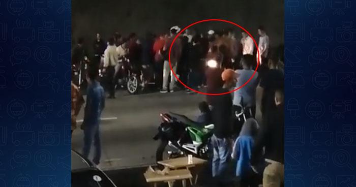 VIDEO | Conductor atropella a varios motociclistas concentrados en el Rancho Navarra