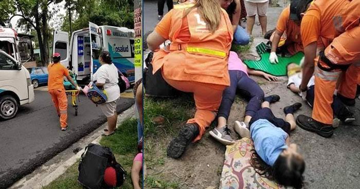 Conductora intentó huir luego de atropellar a una mujer y a dos niños en San Salvador