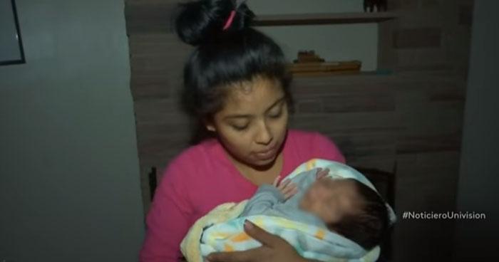 Michael, el primer bebé de la caravana que nace en Estados Unidos