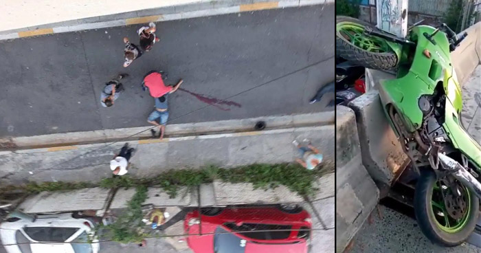 Dos hombres mueren al caer del paso desnivel del Barrio La Vega, San Salvador