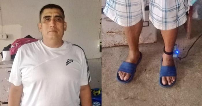 Capturan a sujeto con brazalete electrónico cuando pretendía huir a Honduras