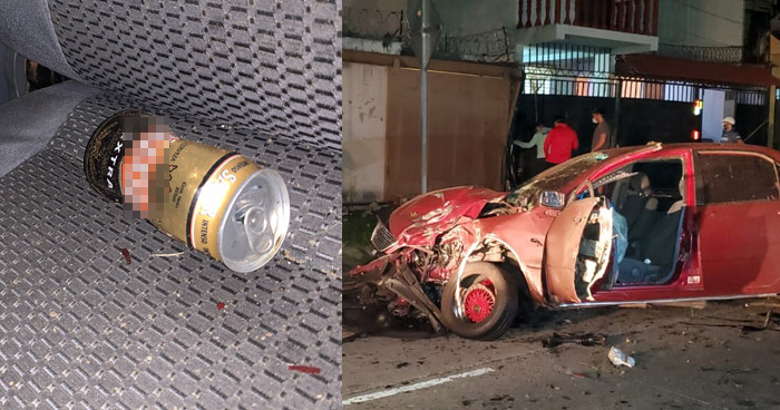 Mujer muere en aparatoso accidente de tránsito provocado por un conductor ebrio