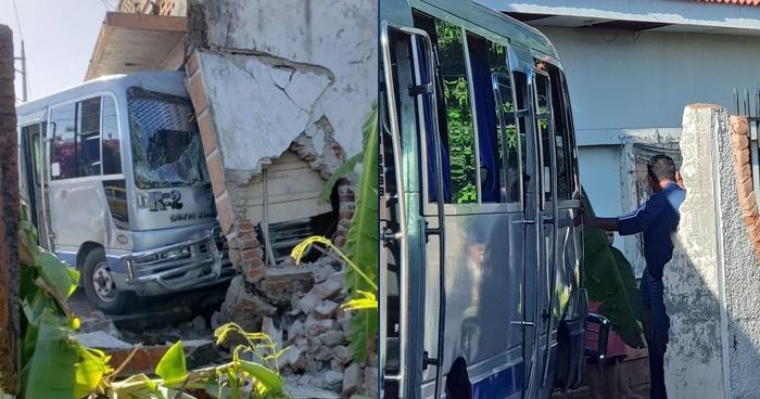 Motorista de la Ruta 2 choca contra una vivienda por disputar la vía en San Miguel