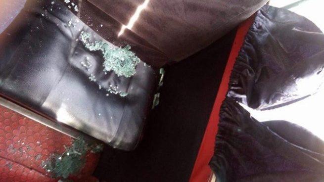 Atacan a balazos a bus de la ruta 16 en San Miguel