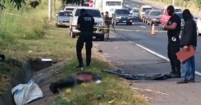 Encuentran un cadáver embolsado en calle al Volcán, Quezaltepeque
