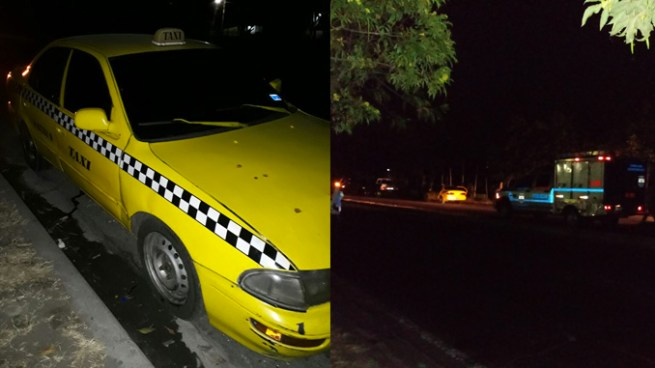 Localizan dos cadáveres amarrados con lazos y ensabanados al interior de un taxi en Soyapango