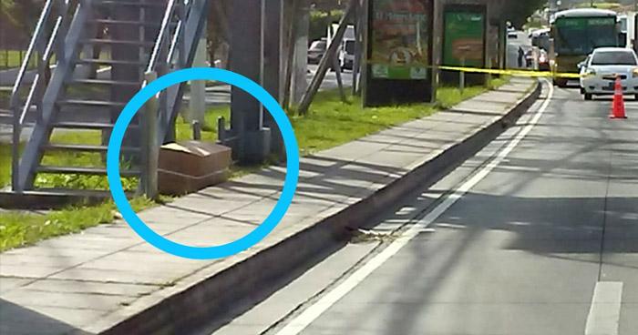 División de Armas y Explosivos descartó presencia de explosivos en caja abandonada en Santa Tecla