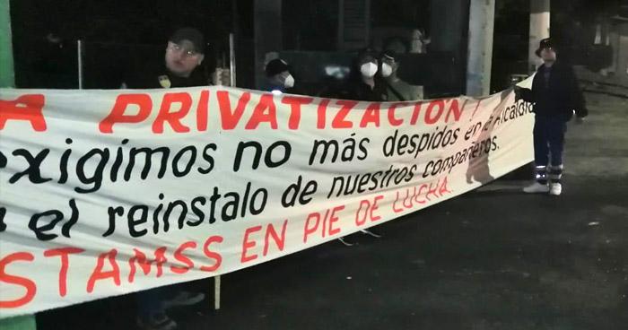 ASTRAM protesta contra el Consejo Municipal de San Salvador