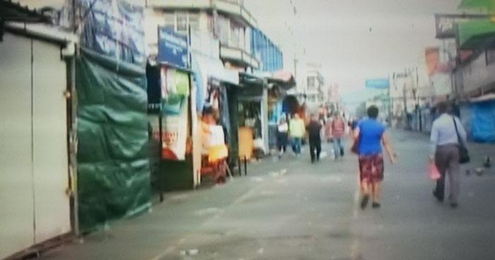 Vendedores desalojados de la calle Ruben Dario por acto de toma de posesión del nuevo presidente