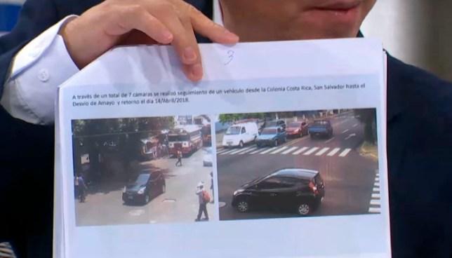 Camaras de vigilancia captaron el vehículo del compañero de vida de Karla Turcios y lo delataron