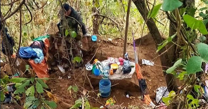 Desmantelan campamento de pandilleros en Tecapán, en Usulután