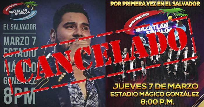 Banda Mazatlán Sinaloa MS cancela su concierto en El Salvador