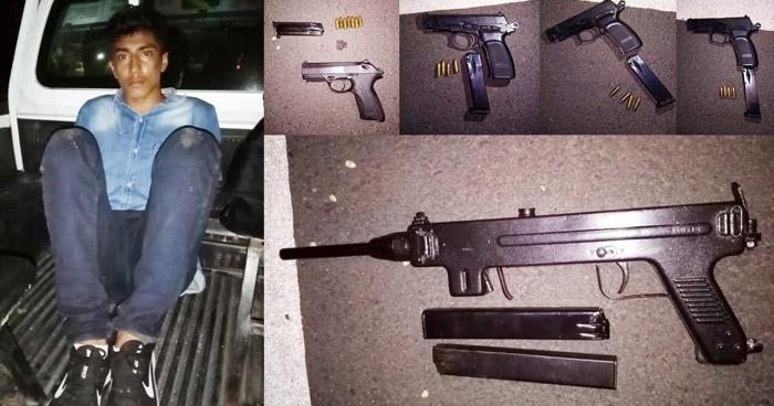 Detienen a pandillero y le incautan armas de fuego en La Libertad