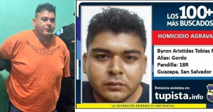 Capturan en Guatemala a pandillero salvadoreño de los 100 Más Buscados