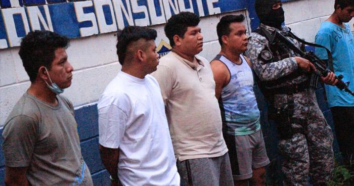 Capturan a miembros de la Pandilla 18 que atemorizaban a habitantes de Izalco, Sonsonate