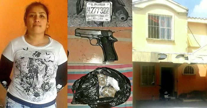 Capturan a joven con una motocicleta robada, droga y otros ilícitos en Ilopango