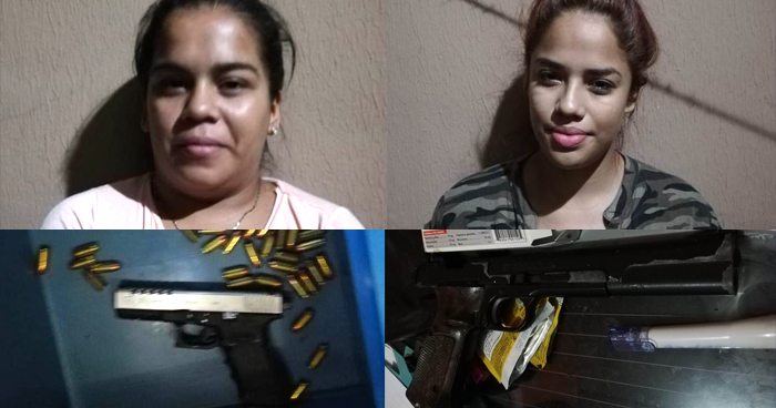 Capturan a mujeres que se encargaban de custodiar y trasladar armas ilegales